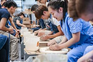 high-school-ceramics-class